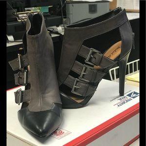 Michael Antonio Leather Buckle Booties